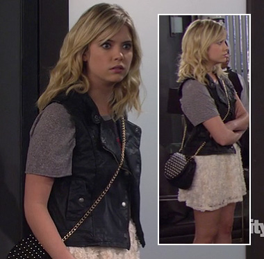 Ashley Bensons black studded bag on How I Met Your Mother