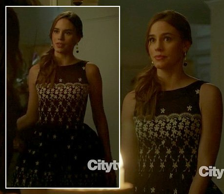 Charlotte's black and white birthday dress on Revenge