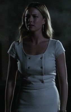 Emily's white military style dress on Revenge