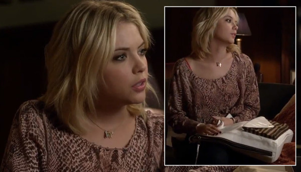 Hanna's white purse on Pretty Little Liars