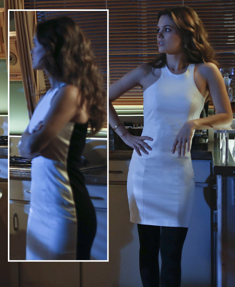 Rachel Bilsons white dress with black back on Hart of Dixie