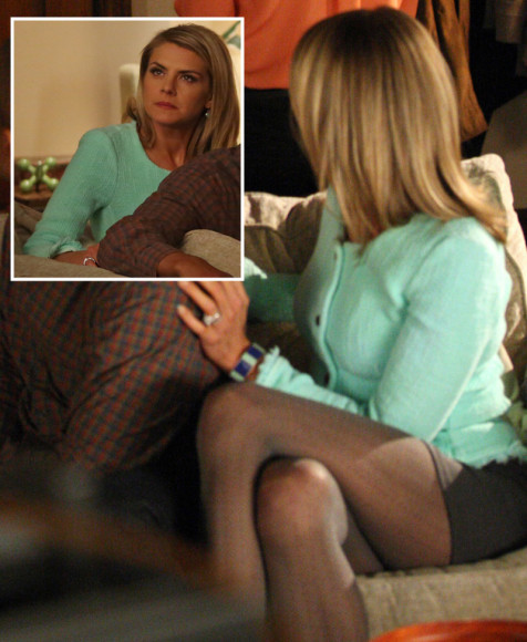 Jane's mint green cardigan on Happy Endings
