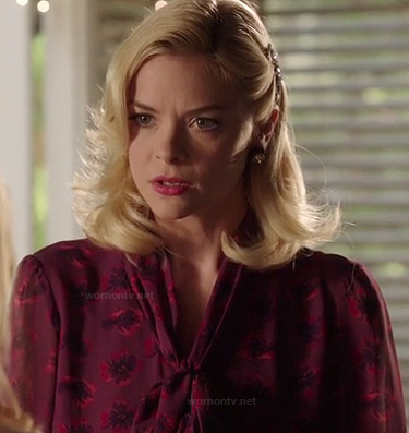 Lemon's purple pussybow blouse on Hart of Dixie