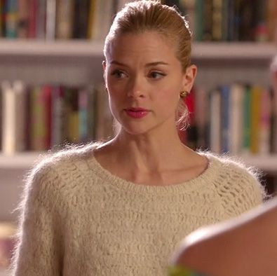 Lemon's white fuzzy sweater on Hart of Dixie