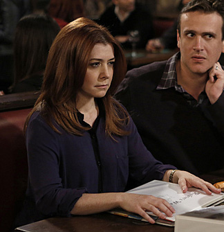 Lily's navy blue shirt with black trim on HIMYM