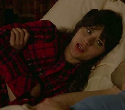 Jess Day's red pjs on New Girl