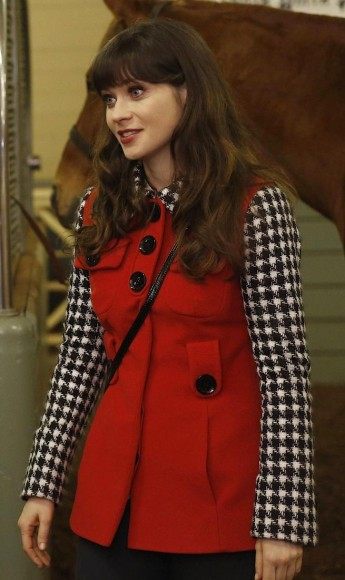 Jess's red coat on New girl