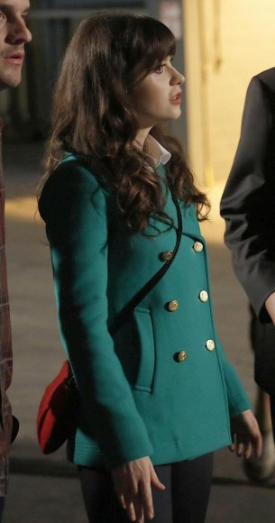 Jess's green jacket on New Girl