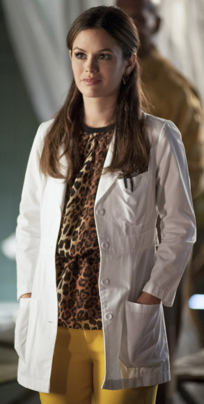 Rachel Bilsons Zara leopard print shirt on Hart of Dixie