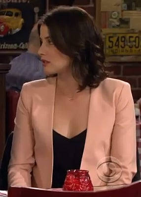 Robin's nude/peach blazer on How I Met Your Mother