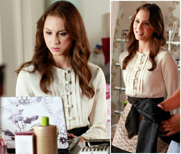 Spencer's white bow blouse on Pretty Little Liars