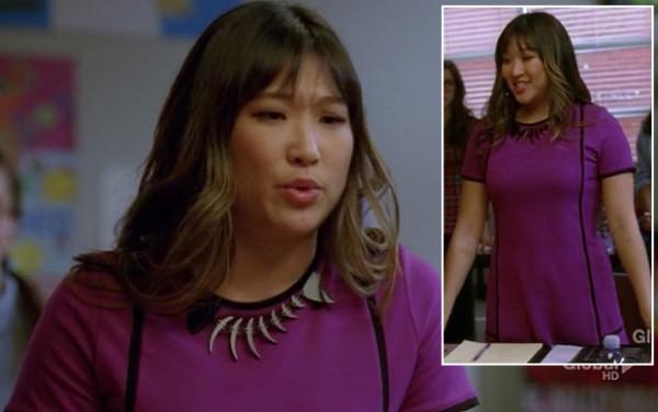 Tina's purple and black dress on Glee