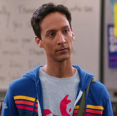 Abed's grey shirt with red panda on Community