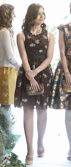 AnnaBeth's brown flower dress on Hart of Dixie