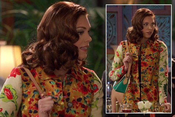 AnnaBeth's floral coat on Hart of Dixie