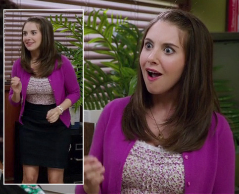 Annie's purple cardigan on Community