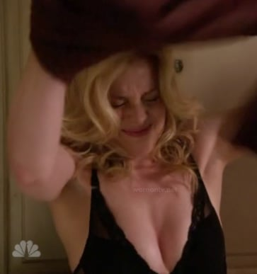 Britta's black bra on Community
