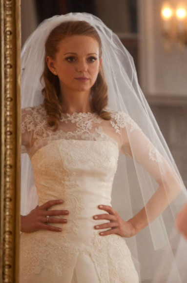 Emma's bridal gown on Glee