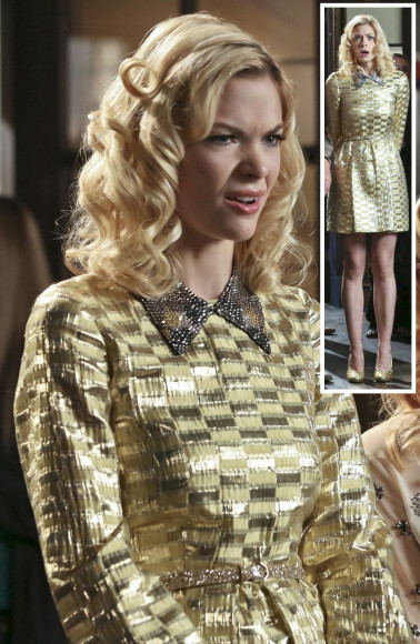 Lemon's metallic longsleeved dress on Hart of Dixie