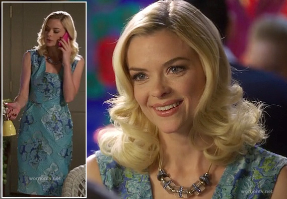 Lemon's blue floral dress on Hart of Dixie