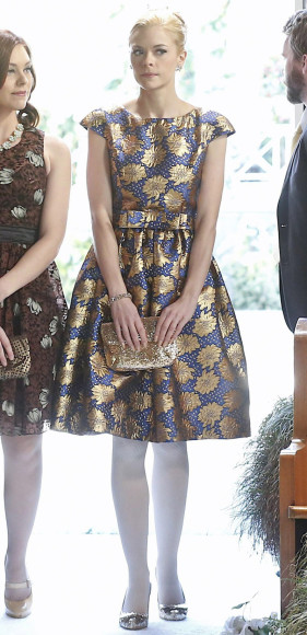 Lemon's blue and yellow cap sleeve flower dress on Hart of Dixie