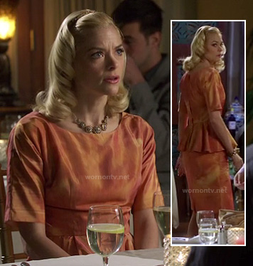 Lemon's orange peplum dress on Hart of Dixie