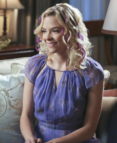 Lemon's purple keyhole maxi dress on Hart of Dixie