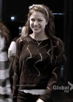 Marley's black swirly knit sweater on Glee