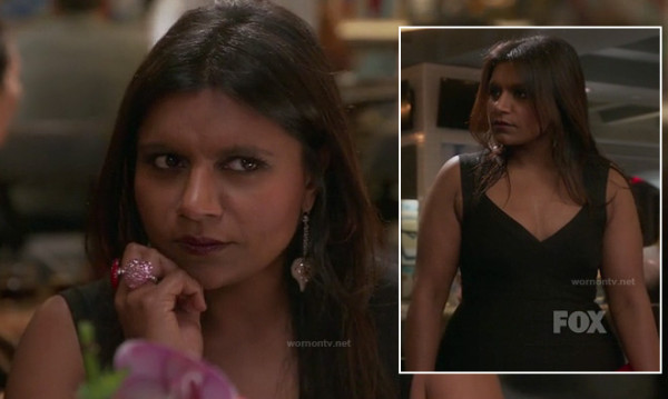 Mindy's black bandage dress on The Mindy Project