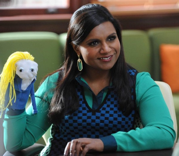 Mindy's blue and green checkered dress on The Mindy Project