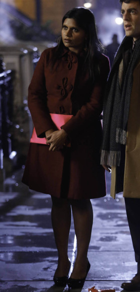 Mindy's red Modcloth coat on The Mindy Project