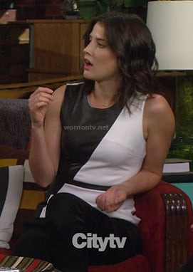 Robin's white and black leather dress on HIMYM