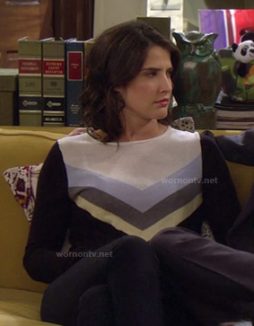 Robin's chevron stripe sweater on How I Met Your Mother