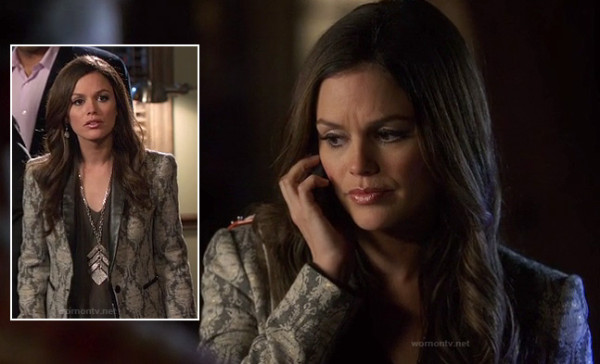 Zoe Hart's lace blazer on Hart of dixie
