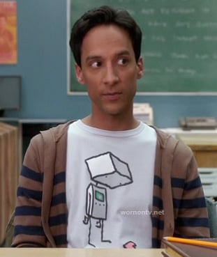 Abed's robot shirt on Community