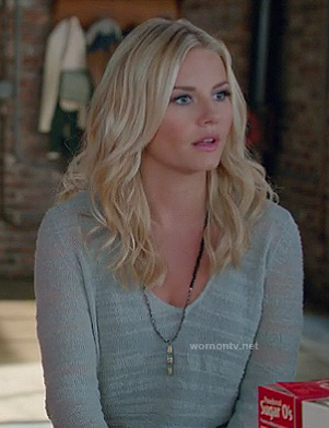 Alex's sheer grey sweater on Happy Endings