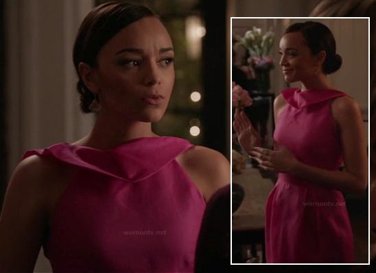 Ashley's hot pink dress on Revenge