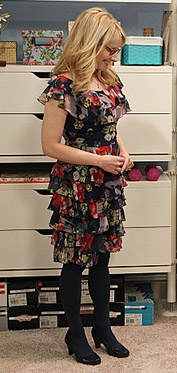 Bernadette's floral tiered dress on The Big Bang Theory