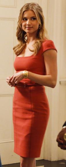 Emily's orange dress on Revenge