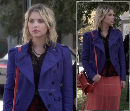 Hanna's blue jacket on Pretty Little Liars