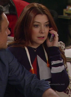 Lily's navy blue sail boat hoodie on How I Met Your Mother