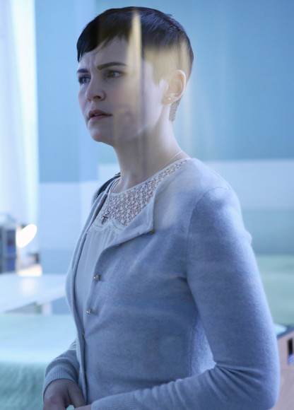 Snow White's lace yoke top on OUAT
