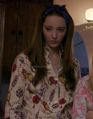 Melanie's Chinese lantern print pajamas on Bunheads
