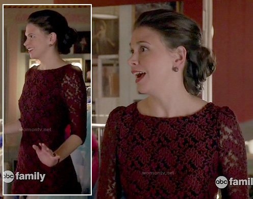 Michelle's red and black lace dress on Bunheads