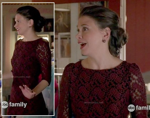 Michelle's burgundy lace dress on Bunheads