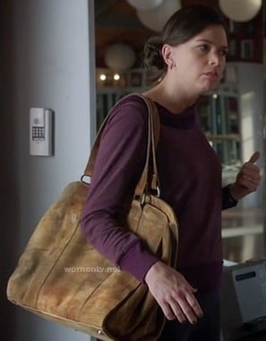 Michelle's distressed leather oversized bag on Bunheads (multiple episodes)