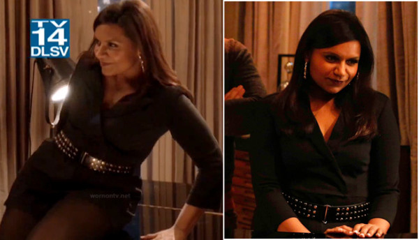 Mindy's black romper on The Mindy Project