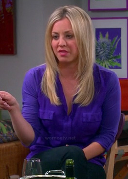 Penny's purple top on The Big Bang Theory