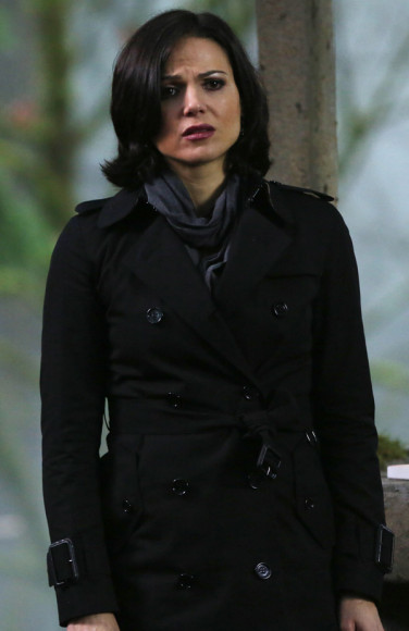 Regina's black trench coat on OUAT