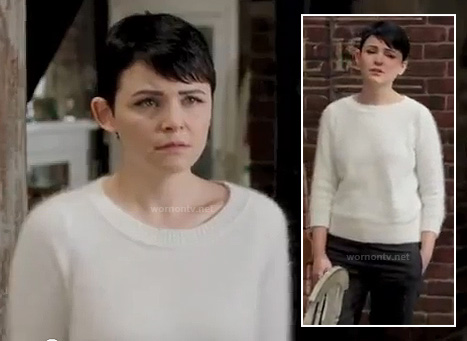 Mary's white fluffy sweater on Once Upon a Time